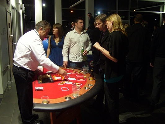 Blackjack table and Croupier hire